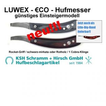 Hufmesser LUWEX-€CO gerade/gekröpfte Cobra-Klinge (Stück)