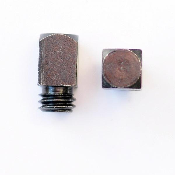 Stollen W12 o. Stift, 12x12 mm, Kopf 17 hoch (No.17S / St.)